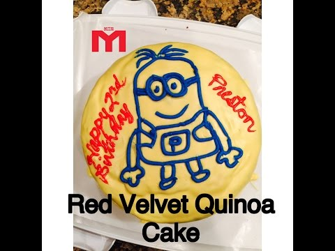 How to Make High Protein Red Velvet Quinoa Cake with Katie Lobliner