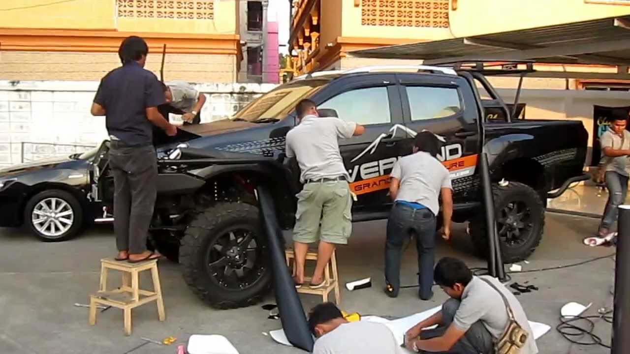 Isuzu D Max Kevlar And Matt Black Wrapping Www Tonywrap