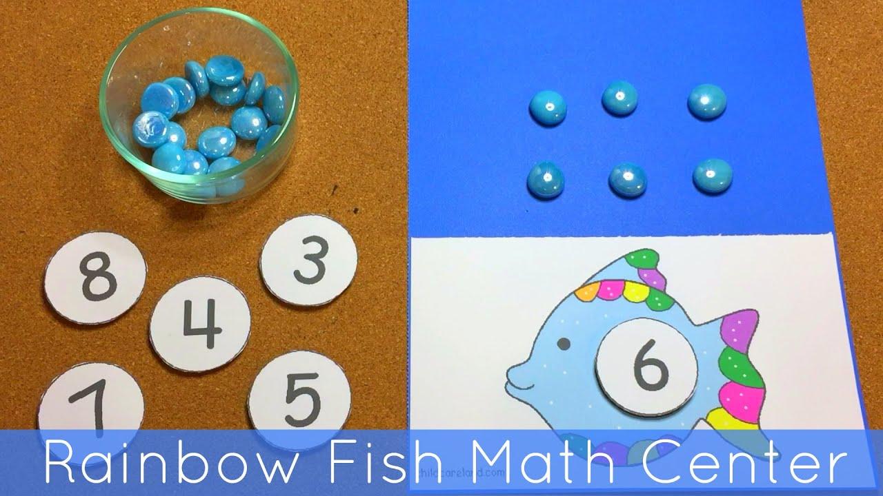 Rainbow Fish Activities Rainbow Fish Math Center For