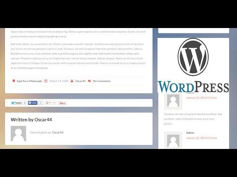 Como Cambiar la caja de autor y fecha de publicación de un artículo en wordpress.