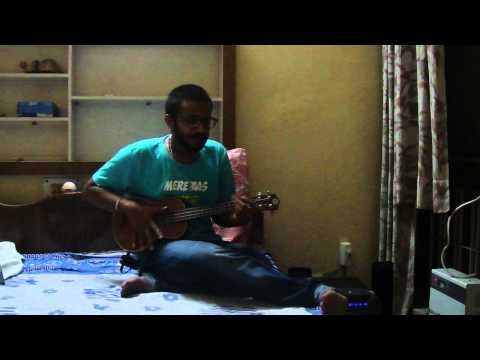 hum bewafa hargiz na the ukulele cover ( percussive ukulele...