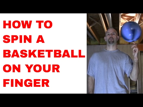How to Spin a Basketball on Your Finger for Beginners - Harlem Globetrotters Trick Tutorial | Snake