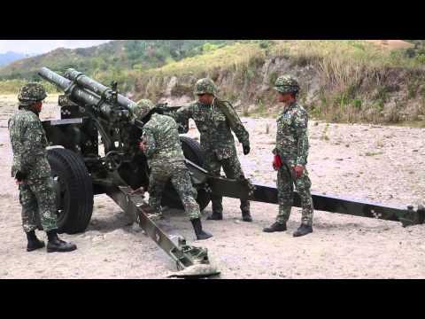 12th Marine Regiment, Philippine artillery Marines providing long range fire support