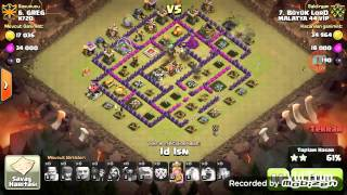 Clash of Clans: TH8 (ClanWar) GoWiPe saldırısı