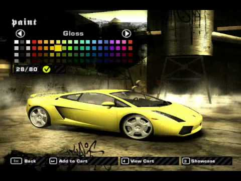 How to make Ming's Gallardo in Nfs Most Wanted
