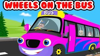 Wheels On The Bus Nursery Rhymes | Kids Songs | 3D Animation English Baby Rhymes | TukTuk The Train