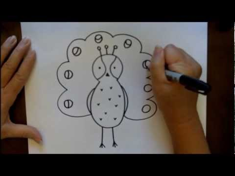 hqdefault jpgPeacock Drawing Step By Step