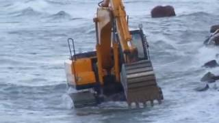 Excavator Russia the Baltic Sea - Экскаватор 1 Russia