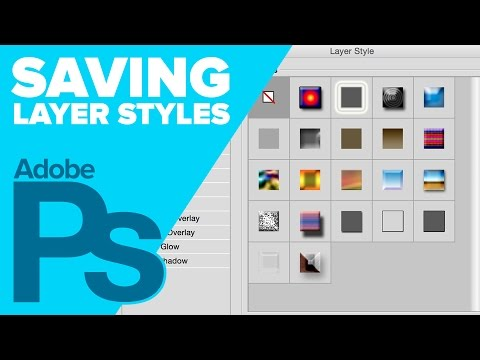 Save Layer Styles in Photoshop