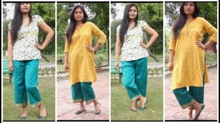 Make Palazzo Pants From Old Saree | DIY Palazzo Cutting And Stitching