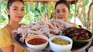 Cooking curry chicken foot recipe - Natural life TV