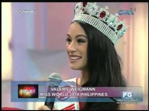 Startalk: Miss World Philippines 2014 Valerie Weigmann Live! video