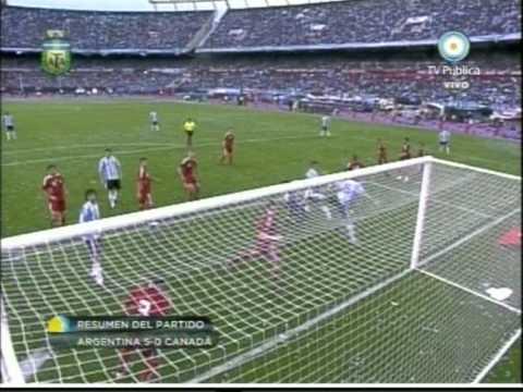 Argentina 5 Canada 0 - GOLES ARGENTINA - CANADA 24/05/10