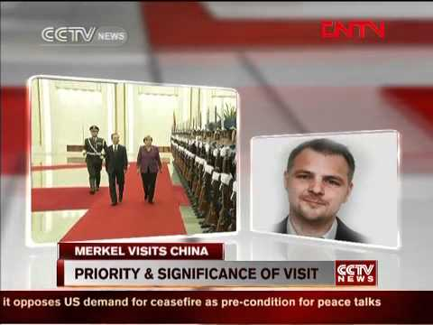 SIPRI Expert Bernt Berger Live cross with CCTV on Merkel's visit to China