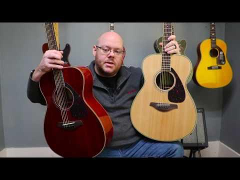 Yamaha FS830 Spruce vs FS850 Mahogany Tone Shoot Out