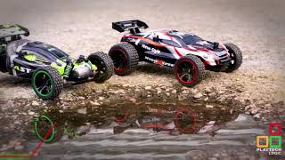 Playtech Logic® 2.4Ghz Speed Racing 15kph 2WD Off Road Remote Control Buggy Truggy Cars