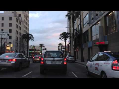 Driving to Hollywood, California