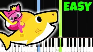 BABY SHARK SONG - Pinkfong [Easy Piano Tutorial] (Synthesia)