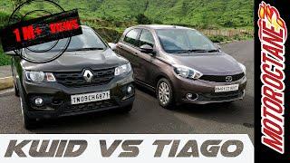 Renault Kwid vs Tata Tiago Hindi Detailed Comparison - रेनॉल्ट क्वाड  v/s टाटा टिआगो  की तुलना
