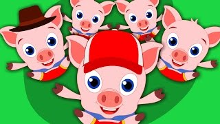 Five Little Piggies | Nursery Rhymes For Kids And Children | Baby Songs | kids tv cartoons
