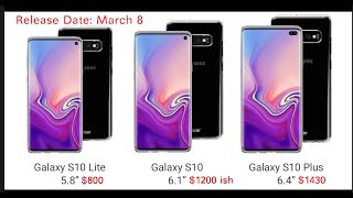 Galaxy S10 Prices Leak | Galaxy S10 X 5G Price, Release Date and Specs