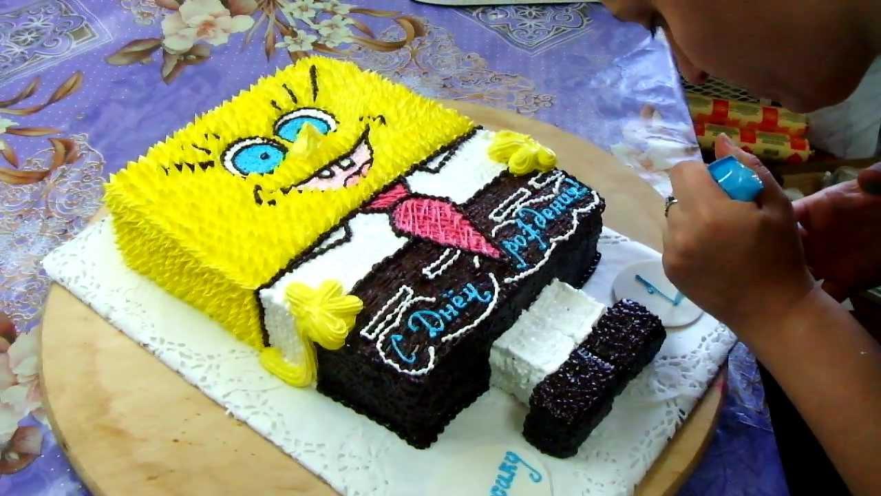 Торт губка боб своими руками