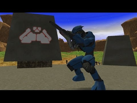 Star Wars Battlefront 2 HD: Halo Mod - UNSC (Blood Gulch Map)