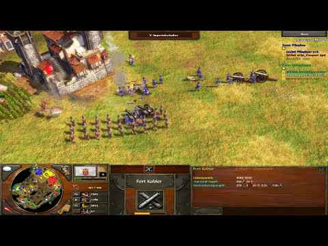 Age of Empires III Multiplayer Gameplay - 3vs3 mit Portugal - Cooper und SyronEx [Deutsch/HD]