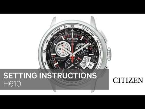 CITIZEN H610 Setting Instruction