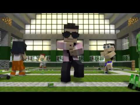 ฉุดไม่อยู่ Gangnam Style Minecraft GG.FLV