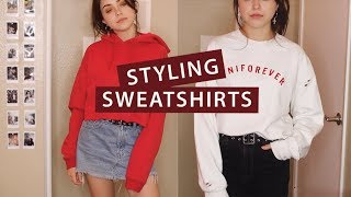 How to Style Sweatshirts & My Collection | lindseyrem
