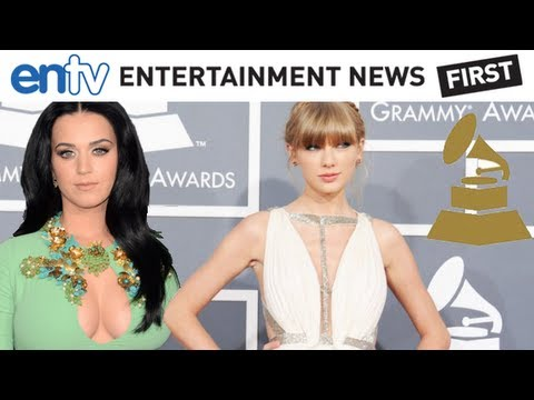 GRAMMYS 2013 Red Carpet: Katy Perry Protest Boobs, Taylor Swift Skin and Rule Breakers! thumbnail