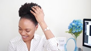 How To SLAY Your Puff & Slick Down Your Edges (4C Hair)