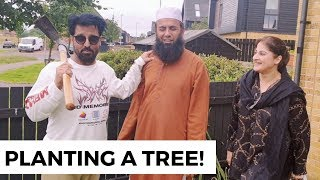Planting A Tree In Glasgow | Following Sunnat | Rambo and Sahiba | Jan Rambo | Lifestyle With Sahiba