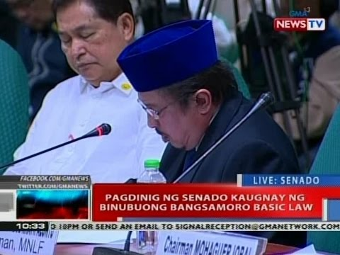 Senate committee hearing on Bangsamoro Basic Law