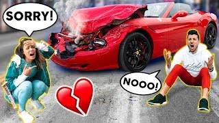 I RUINED My Husband's NEW FERRARI! (PRANK) | The Royalty Family
