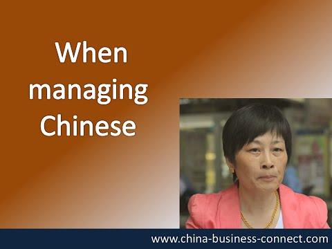 Managing Chinese: When Managing Chinese