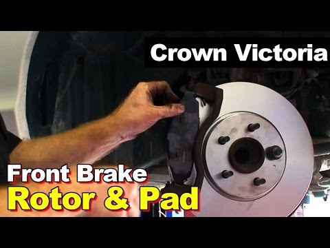 2003 Ford Crown Victoria Front Rotor and Brake Pads Replacement