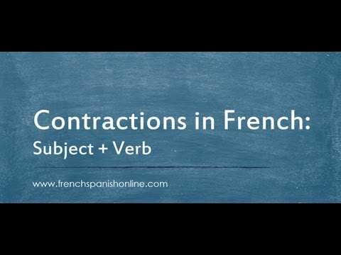 contraction in French between subjects and verbs