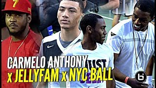 Carmelo Anthony Witnesses JellyFam & BEST of NY In Front of TOUGHEST CROWD In America at Dyckman!!