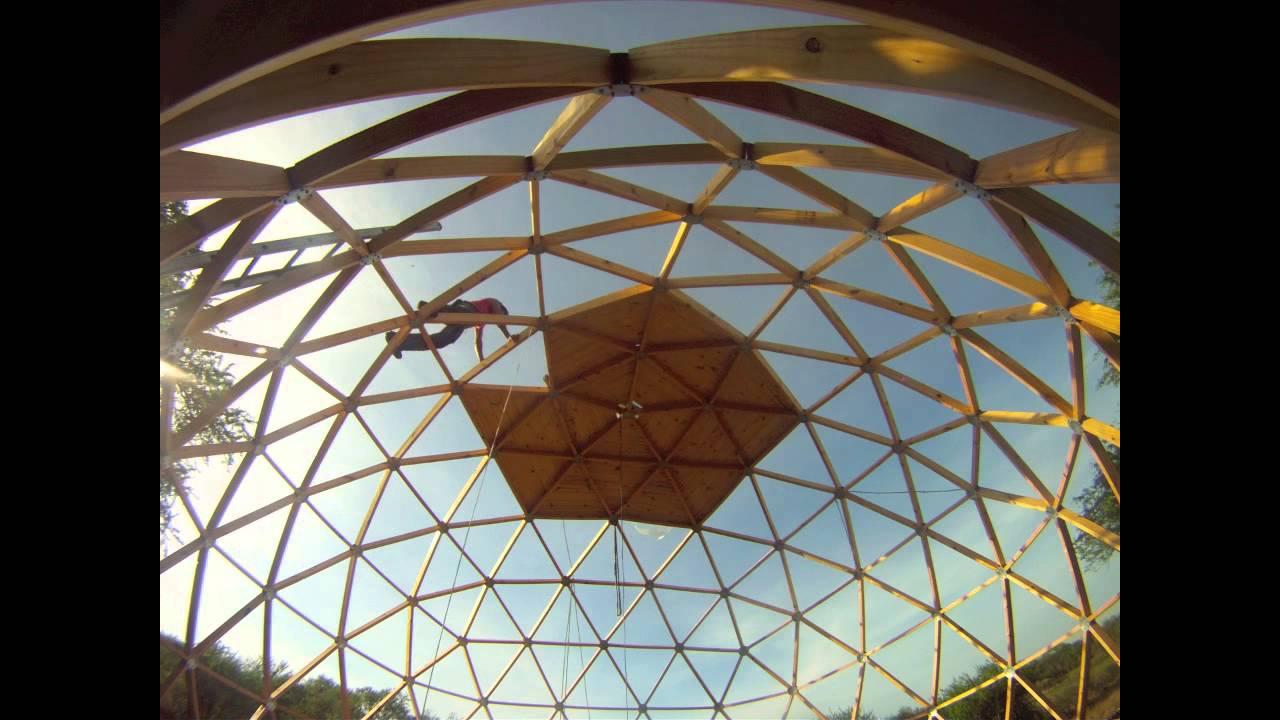 Domo De Madera Geodesico En Kit Youtube