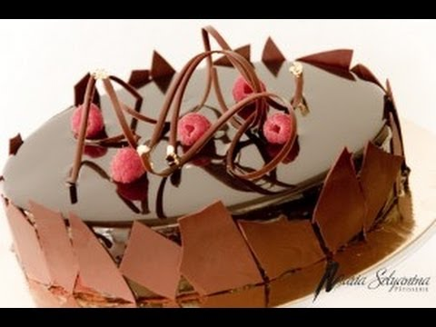 Pastel de chocolate con betún de chocolate y frambuesa - YouTube