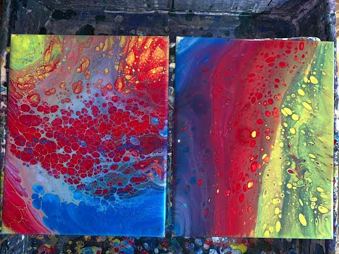 Part4 final Silicon comparison..dish soap and alcohol acrylic pour painting