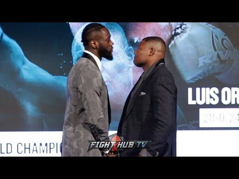 INTENSE FACE OFF BETWEEN DEONTAY WILDER & LUIS ORTIZ IN NEW YORK!