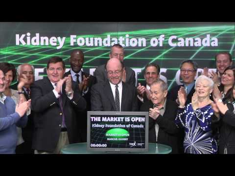 The Kidney Foundation of Canada opens Toronto Stock Exchange, March 13, 2015