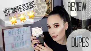 NEW Anastasia Beverly Hills x Amrezy Highlighter REVIEW FIRST IMPRESSIONS & DUPES | lesleydoesmakeup