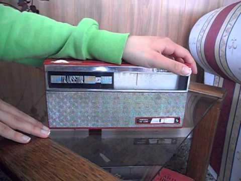 Funcionamiento Radio Antigua A Transistores Portátil De Luxe