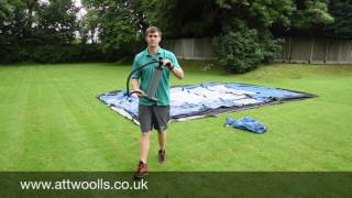 How to pitch an Inflatable Tent (Tutorial Video)