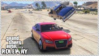 GTA 5 Roleplay -'HUGE' Crash Car Loses Control & Flips Drag Racing | RedlineRP #264