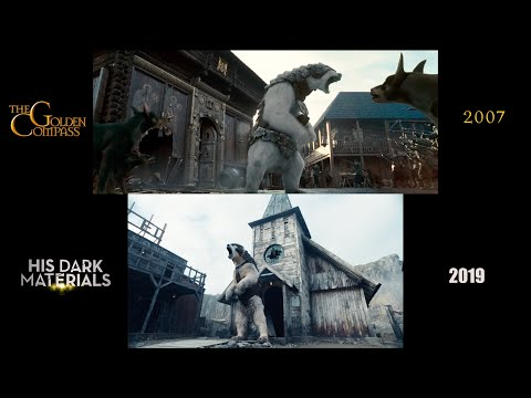 The Golden Compass (2007)/His Dark Materials (2019) side-by-side comparison